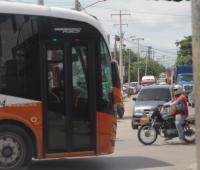 Transcaribe circulando en San Fernando