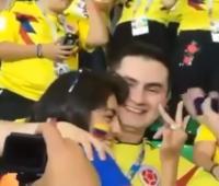 Pedida de mano en el Mundial de Rusia 2018.