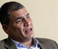 En la imagen, el expresidente de Ecuador Rafael Correa.
