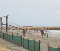 personas bañándose en la playa