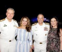 Almirante Ernesto Durán González, María José Cure, Gonzalo Ríos Olastri y Jubitza de Ríos.