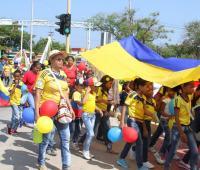Desfile 20 de julio calles de Cartagena. 2016