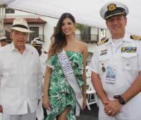 Raimundo Angulo, Anabella Castro y el Capitán de Navío Jorge Aissa.