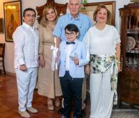 Renato Damiani, María Beatriz Gómez, José Ramón Gómez, Astrid de Gómez y Stefano Damiani.
