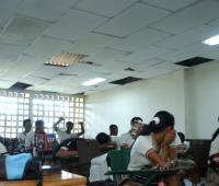 Salón de clases barrio el Milagro. Cartagena.