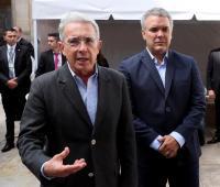 Álvaro Uribe Vélez e Iván Duque.