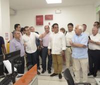 Alcalde de Soacha visita a las instalaciones de Transcaribe.