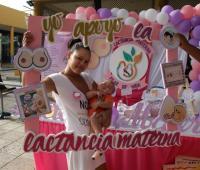 Campaña para donar leche materna de la Maternidad Rafael Calvo.