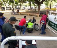 Marcan motos en Montería