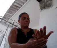 Margarita Vargas, madre de Brayan Meza.
