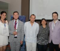 Mariely Herrera, Rodolfo Cortina, Fabricio Mantilla, Claudia Mendoza y José Octavio Zuluaga./