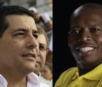 Dumek Turbay Paz, gobernador de Bolívar y Faustino Asprilla, exfutbolista colombiano.