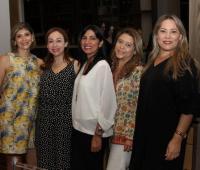Adriana Guio, Sofía Ortega, Sandra Buelvas, Ruth Castillo y Diva Montero.