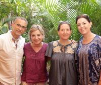 Jaime Rogel, Maricarmen Soberón, Regina Cárdenas y María Soberón.