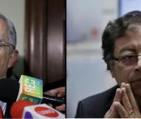 Álvaro Uribe Vélez y Gustavo Petro.