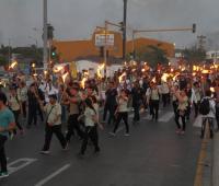 Estudiantes marchando