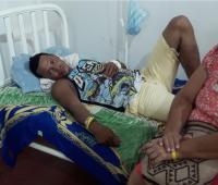 Alfredo Nassar salió herido al quedar atrapado por un alud de tierra en Mompox.