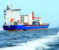 Buques de carga en aguas del mar Caribe