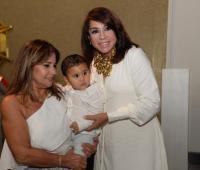 Gloria Rojas de Movilla, Lucas Maciá M. y Mayra Rodríguez.