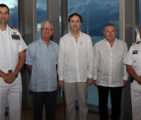 John Ruiz, Haroldo Calvo, el embajador de Chile, Ricardo Hernández;  el cónsul de Chile en Cartagena, John Gilchrist; y Fernando Díaz.