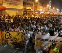 Marcha de estudiantes de la Universidad de Cartagena
