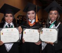 Maryorie Batista, Cindy Ortiz y Jazmín Cruz.