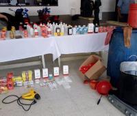 Medicamentos adulterados confiscados en Montería.