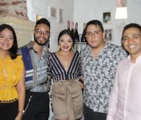 Melissa Mendoza Turizo, Mauricio Ospino Diazgranados, la cumplimentada, Judith Mendoza Turizo; Daniel Pedraza Gutiérrez y Germán Tejeda Herrera./