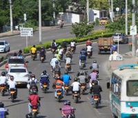Motocicletas en vías de Cartagena