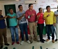 Francisco Barrios, Félix Hernández Edith Guerra, Eduardo Salcedo, Danny Arroyo, Edgar Pacheco, y Felipe Bertel, nueva junta directiva Acord-Sucre.