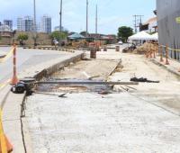 Tramo de la avenida Luis Carlos López a punto de finalizar
