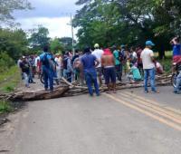 Protesta en la vía