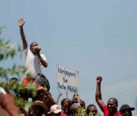 Protesta en Haití.