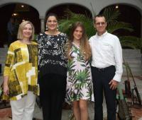 Roxana Trucco, Mónica Fadul, María del Cielo Martínez y Álvaro Martínez.