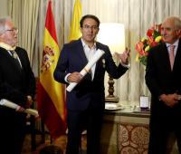 Héctor Abad Faciolince, Juan Gabriel Vásquez y Pablo Gómez de Olea.