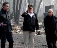 Donald Trump visita la zona afectada por incendios