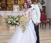 Los recién casados, Nicole Pérez Cuéter y Constantino Ruiz Rodríguez.