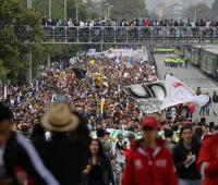 Marcha de estudiantes.