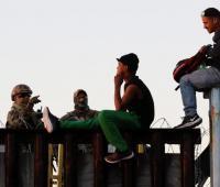Migrantes en la frontera de EEUU