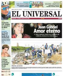 Portada El Universal 29-08-2016