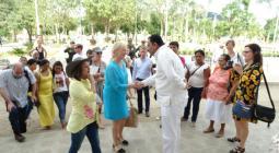 Canciller sueca visita a mujeres víctimas del conflicto armado en San Juan Nepomuceno.