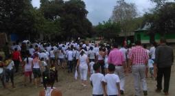 Marcha en El Salado por caso de menor de 17 años que fue violado por tres hombres.