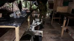 Ejército ubica y destruye laboratorio para producir cocaína en Montecristo, sur de Bolívar.