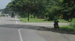Sitio donde ocurrió el accidente en la Variante de Turbaco