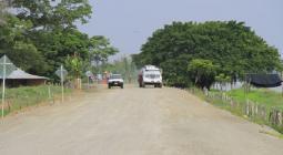 Obras en la vía de Mahates