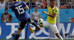 Wilmar Barrios en el partido de la Selección Colombia contra Japón.
