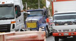 Camiones en Cartagena durante paro camionero