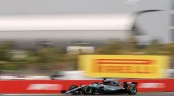 El piloto británico Lewis Hamilton, durante el Gran Premio de Alemania