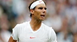 Rafael Nadal durante la final de Wimbledon 2018