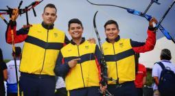 Daniel PIneda, Daniel Betancur y Andrés Pila ganaron por equipo oro para Colombia.